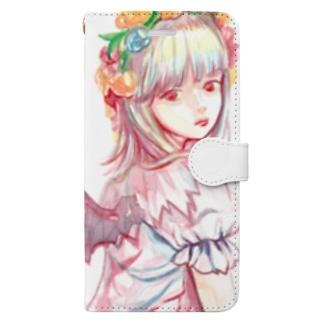 ピンクのでびる Book-style smartphone case
