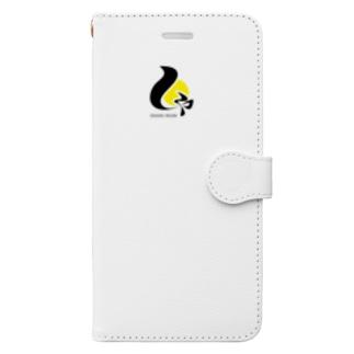 しゃにむに黒文字 Book-style smartphone case