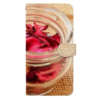 麻袋&赤い花3 Book-style smartphone case