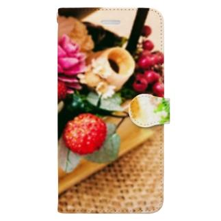 ジュート&プリザーブドフラワー1 Book-style smartphone case
