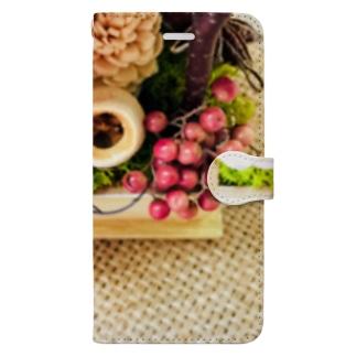 ジュート&プリザーブドフラワー3 Book-style smartphone case