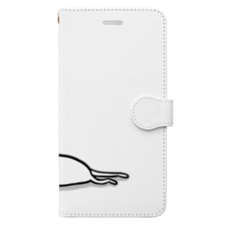 力尽きた Book-style smartphone case