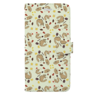 りす Book style smartphone case