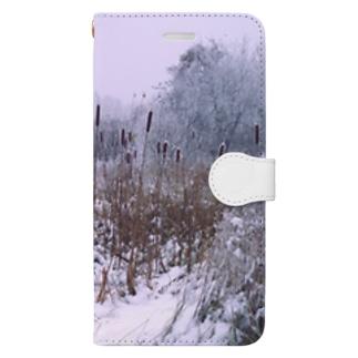 Winter Landscape, Cattail Book-style smartphone case