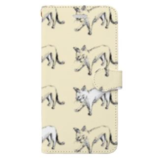 ねこ2 Book-style smartphone case