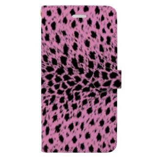豹柄(ピンク) 手帳型スマートフォンケース