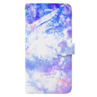 青いキラキラ。 Book-style smartphone case