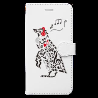 Drecome_DesignのMusic Penguin Book-style smartphone case
