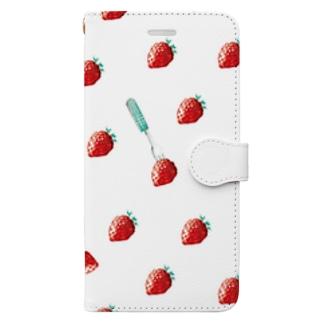 佳矢乃のいちご  Book-style smartphone case