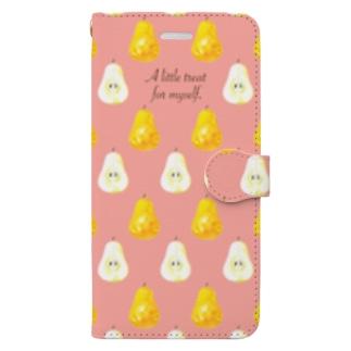 ラ・フランス in pink Book style smartphone case
