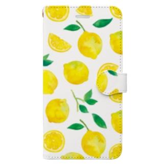 レモン手帳型iPhoneケース Book style smartphone case