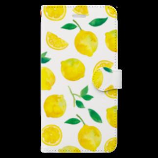 さとろくのレモン手帳型iPhoneケース 手帳型スマートフォンケース
