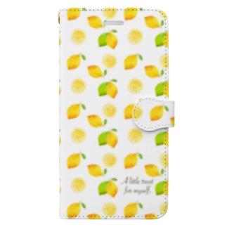レモン in white Book-style smartphone case