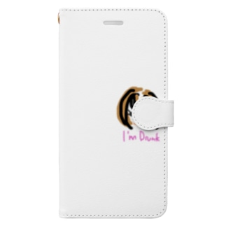 よった女の子 Book-style smartphone case