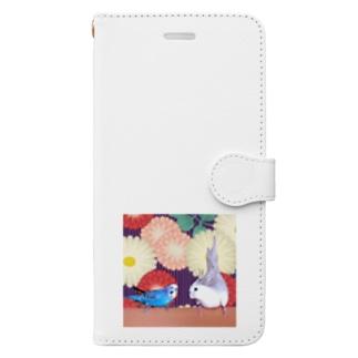 和柄りこふく Book-style smartphone case