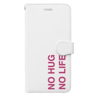 NO HUG NO LIFE 手帳型スマートフォンケース