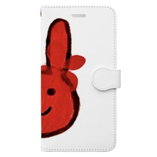 うさぎ(赤) Book-style smartphone case
