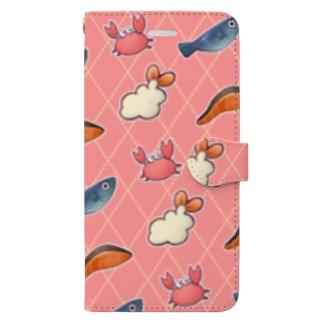 おいしいうみのさち Book style smartphone case