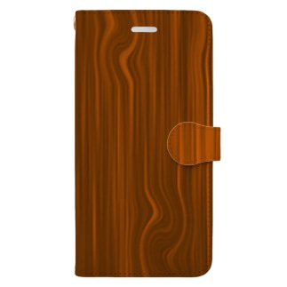 木目 Book-style smartphone case