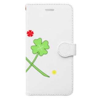 よつばとカタバミ Book-style smartphone case