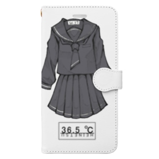 冬服セーラー服(黒) Book-style smartphone case