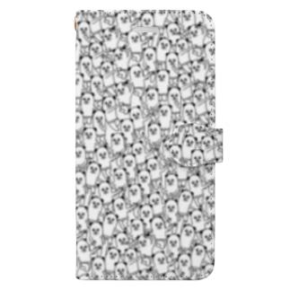 パンダおっさんがいっぱい Book style smartphone case