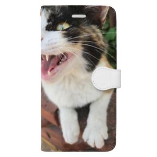 元部下のにゃーん Book-style smartphone case