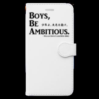 アタマスタイルの名言:「少年よ、大志を抱け」(Boys, Be Ambitious.):クラーク博士 Book-style smartphone case