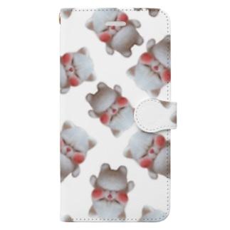 いっぱいブサネコさん Book-style smartphone case