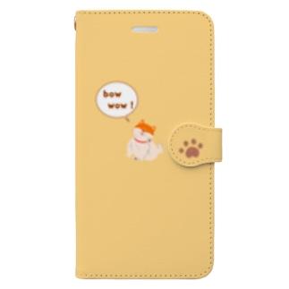 柴犬のスマホケース(オレンジ) Book-style smartphone case