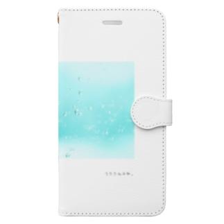 雨のしずく Book-style smartphone case