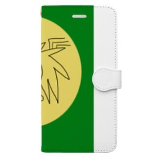 JUNSENSETA(瀬田純仙)文明7円盤の石碑 Book-style smartphone case