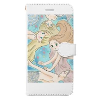 マーメイドさん Book-style smartphone case