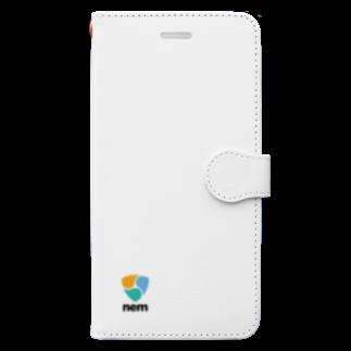 OWLCOIN ショップのNEM ネム Book style smartphone case