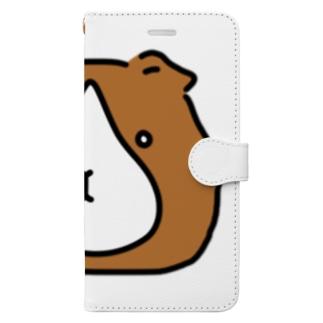 ぽったりモルモット 茶・はなしずく Book-style smartphone case