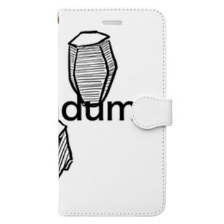 コランダムの結晶原石の晶癖 Book-style smartphone case