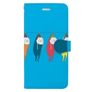 ねこタイツの洗濯 Book style smartphone case