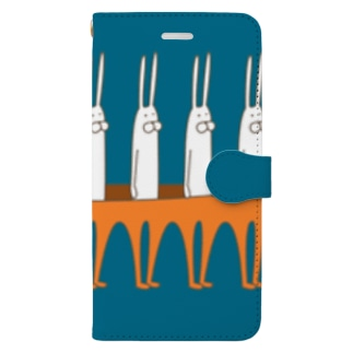 うさぎタイツの整列 Book-style smartphone case