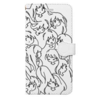 女の子たち Book-style smartphone case
