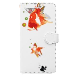浮遊する金魚 Book-style smartphone case