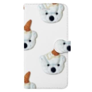 白くまアイスクリーム Book-style smartphone case