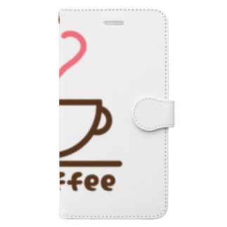 クラクラコーヒー部 Book-style smartphone case