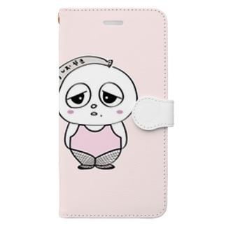 あみたいつのあつおちゃん Book-style smartphone case