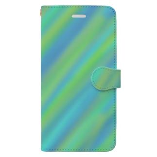 青 Book-style smartphone case