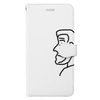 横顔さん Book style smartphone case