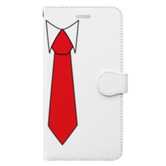 ネクタイイラストグッズ Book-style smartphone case