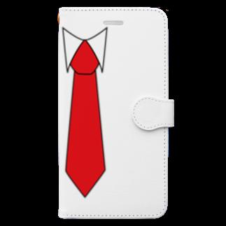お絵描き看護師のネクタイイラストグッズ Book-style smartphone case