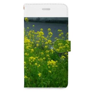 春、いっぱい Book-style smartphone case