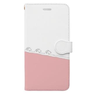 夏のピンクプール Book style smartphone case