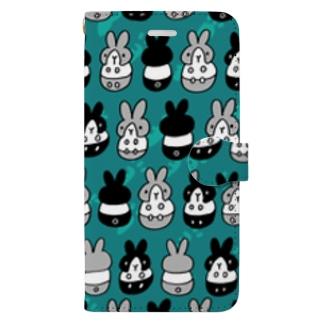はちわれちゃん(青緑2) Book style smartphone case